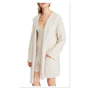 Free People Snow Angel Cardigan in Ivory